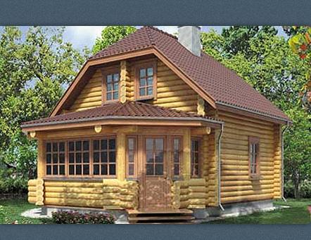 Срубы домов бань в москве